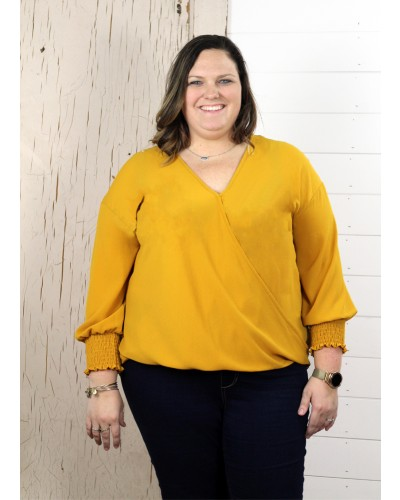 Plus Top in Mustard by Spin USA