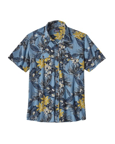 Steersman Shirt in Kelp Garden:  Navy Blue by Patagonia