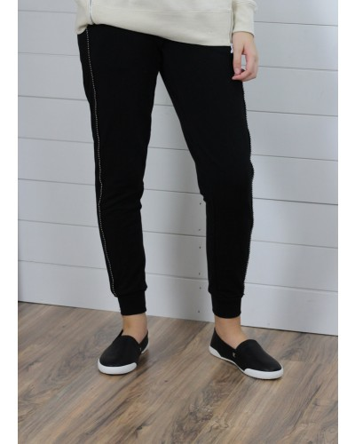 Pull on Sweatpant in Black by Dex