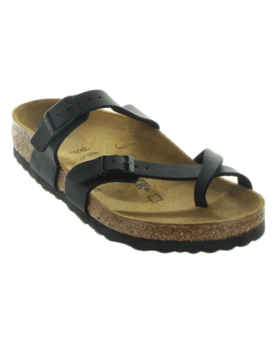 Mayari in Black Birko-Flor by Birkenstock