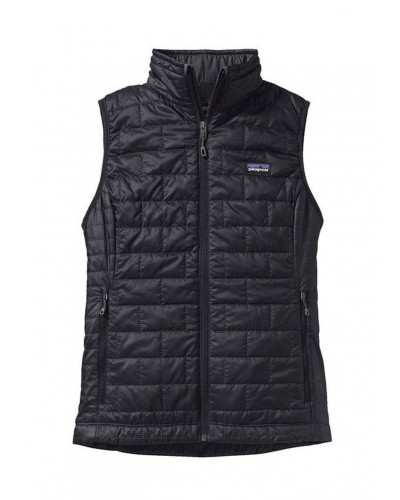 Women's Nano Puff Vest in Black by Patagonia