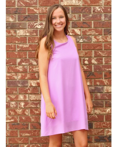 Shift Dress in Lavender by Entro