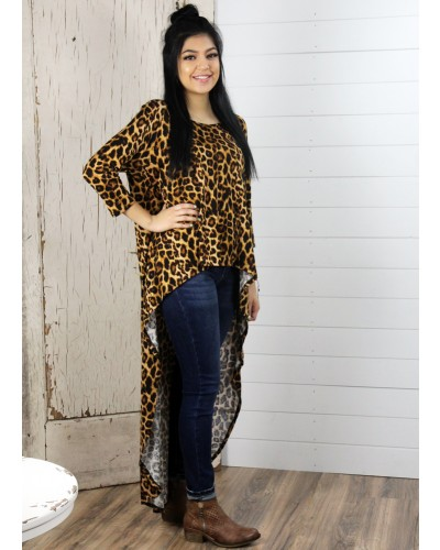 L/S Cheetah Top by Turquoise Haven