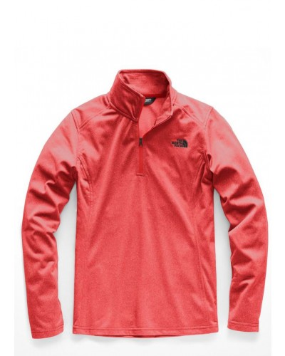 Womens Tech Glacier 1/4 Zip in Juicy Red Heather by The North Face