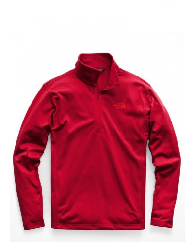 Mens Tech Glacier 1/4 Zip in Rage Red by The North Face