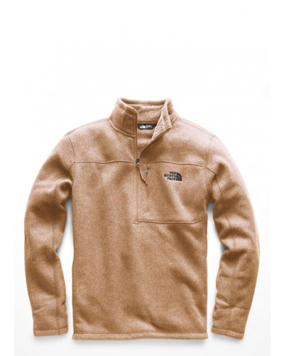 Mens Gordon Lyons 1/4 Zip in Cargo Khaki Heather by The North Face