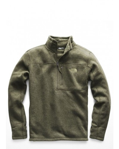 Mens Gordon Lyons 1/4 Zip in Four Leaf Clover Heather by The North Face