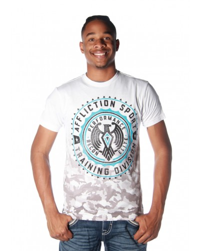 Recon Elite S/S DT Tee in White by Affliction