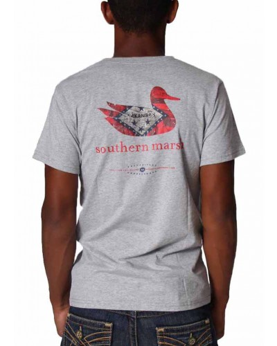 Authentic Heritage Arkansas Tshirt in Light Gray by Southern Marsh