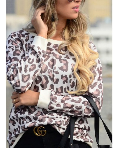 Leopard Print Top in Brown by and the why