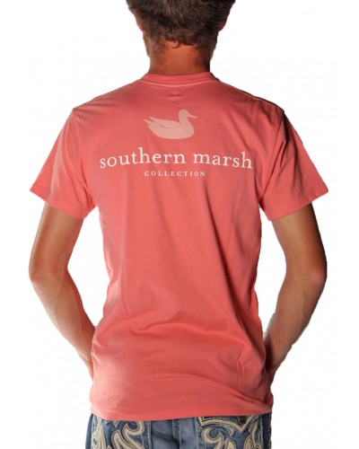 Authentic Southern Marsh Tee in Azelea by Southern Marsh