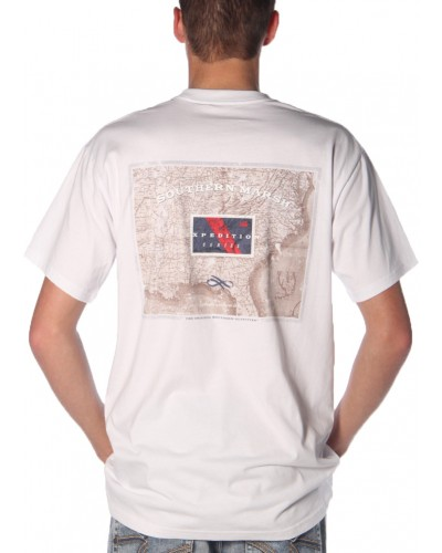 Expedition Series Tee in White by Southern Marsh