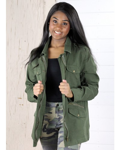 Utility Jacket in Olive by Jodifl