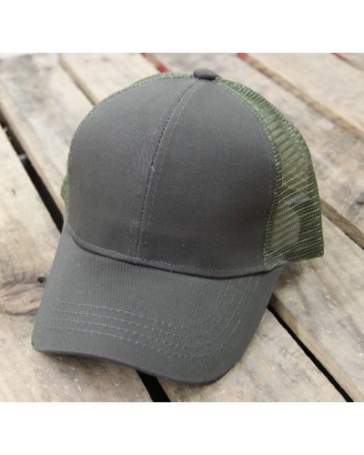 Mesh Pony Cap in Olive by CC