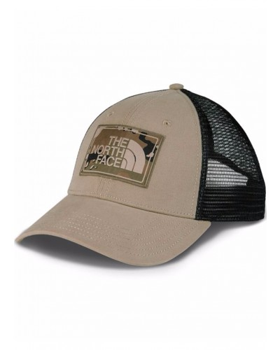 Mudder Trucker Hat in Dune Beige/Burnt Olive Green Camo by The North Face