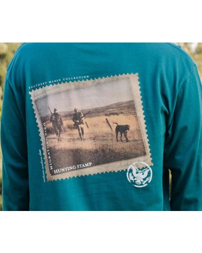 L/S Chocolate Lab Tee in Dark Green by Southern Marsh