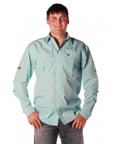 North Key Fishing Shirt L/S in Antigua Blue by Southern Marsh