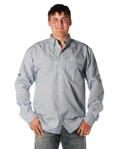 North Key Fishing Shirt L/S  in Breaker Blue by Southern Marsh