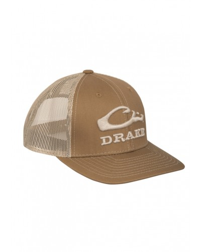 Logo Mesh Back Cap in Brown/Tan by Drake
