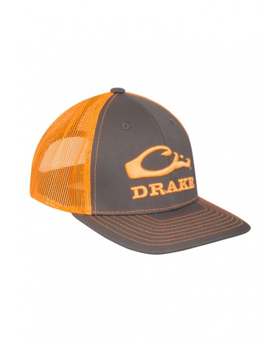 Logo Mesh Back Cap in Chocolate/Orange by Drake