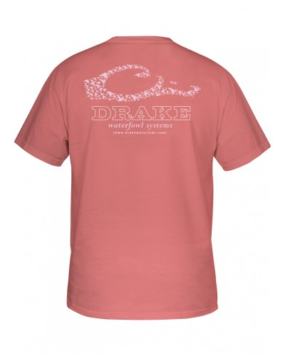 S/S Drake Logo T-Shirt in Deep Coral by Drake