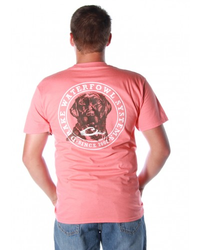 Circle Lab S/S Tee in Bright Salmon by Drake