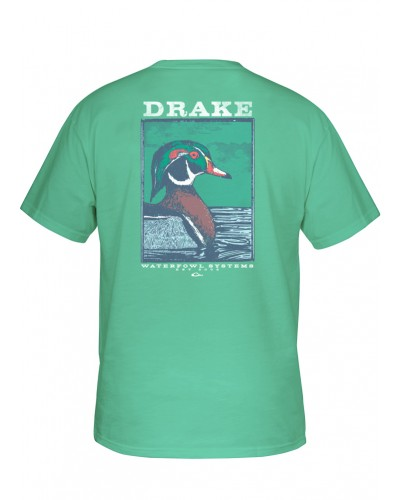 Southern Collection Wood Duck Tee in Chalky Mint by Drake