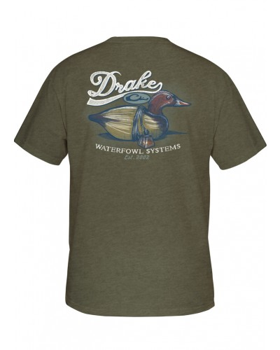 Southern Collection Canvasback Decoy Tee in Military Heather by Drake