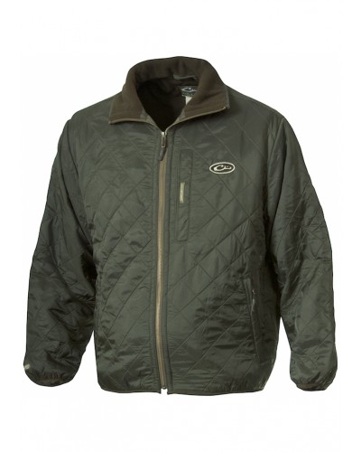 Fl Lined Quilted Jacket in Olive by Drake