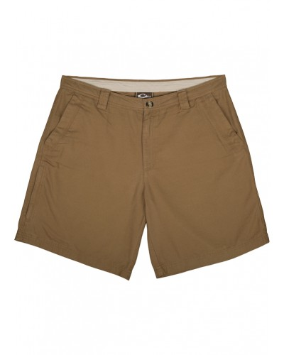 Washed Cotton Canvas Shorts in Tobacco by Drake