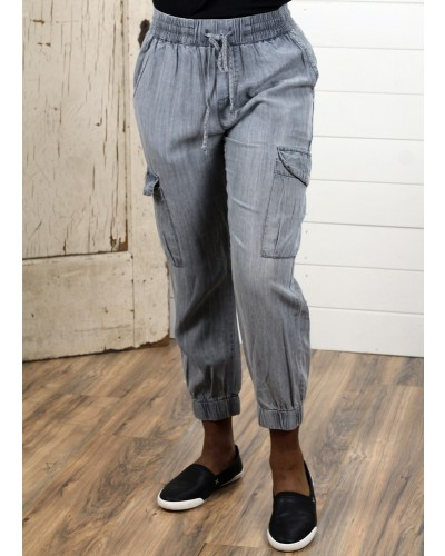 Cargo Jogger in Grey by Dress Forum