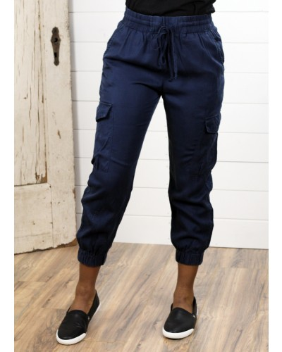 Cargo Jogger in Navy by Dress Forum