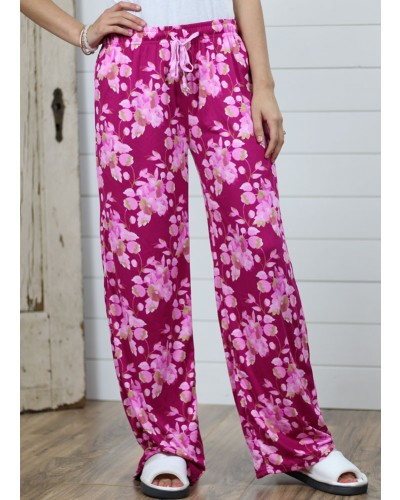 Lounge Pant in Pink Floral by DM Merchandising