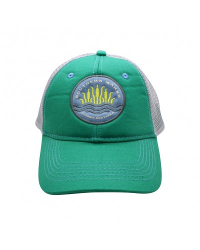 Trucker Hat - Cattail in Bimni Green by Southern Marsh