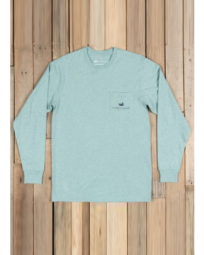 Branding Compass Tee in Washed Moss Blue by Southern Marsh