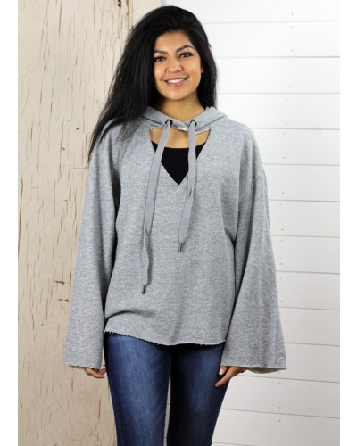 Top in Heather Grey by Loveriche