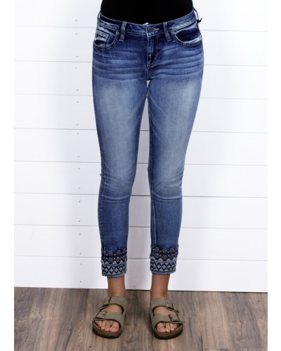Mid Rise Ankle Skinny in M497 by Miss Me