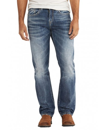 Grayson Woven Denim Pant in Indigo by Silver Jean