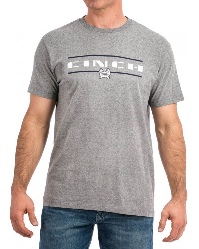 S/S Tee in Heather Grey by Cinch