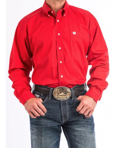 L/S Print Shirt in Red by Cinch