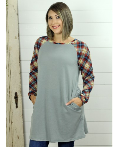 French Terry Dress in Grey