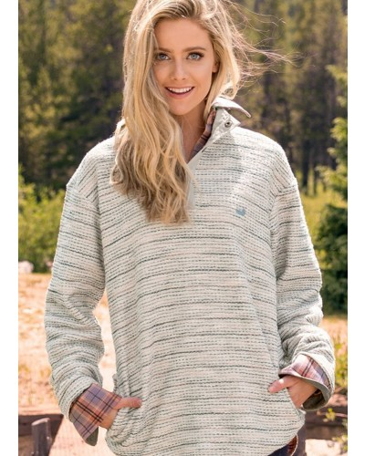 Pawleys Rope Pullover - Stripes in Oatmeal by Southern Marsh