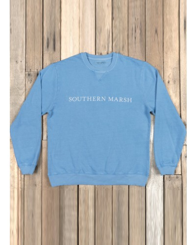 Seawash Sweatshirt in Washed Blue by Southern Marsh