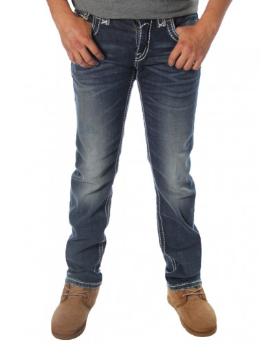 Straight Leg Jean in Rumo by Rock Revival