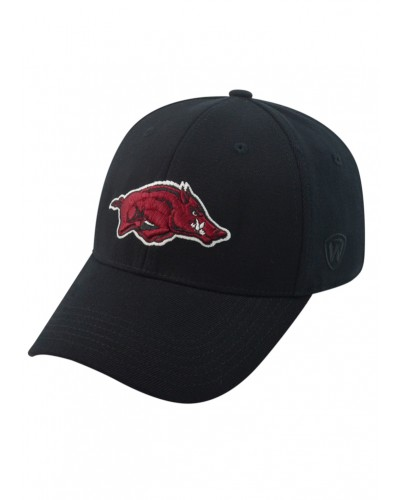 Memory Fit Arkansas Hat-One Fit-Black by Top of the World