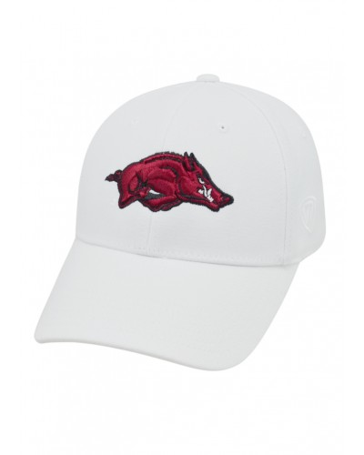 Memory Fit Arkansas Hat-One Fit-White by Top of the World