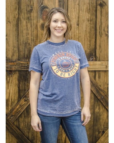 Pumpkin Spice is Right Tee in Washed Blue
