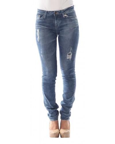 Mid Rise Slim Straight Jeans in HLR by Bigstar Jeans