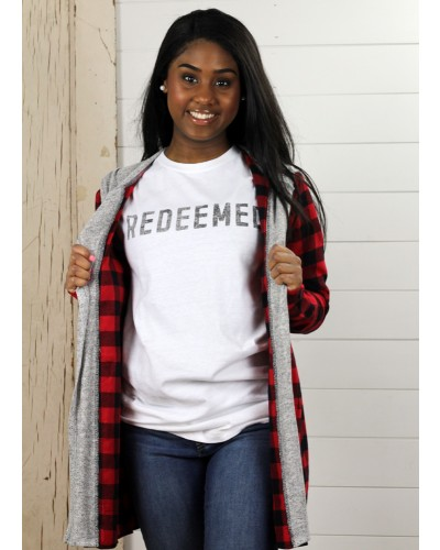 S/S Redeemed Tee in White by Crazy Cool Threads