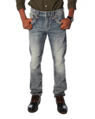 Straight Leg Jean in Steven J79 by Rock Revival